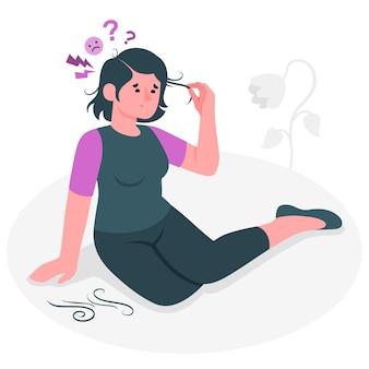 Ilustración del concepto de trastorno por arrancarse el pelo