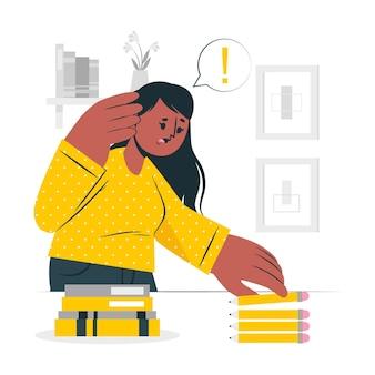 Ilustración del concepto de trastorno obsesivo compulsivo