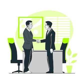 Ilustración del concepto de trato de negocios