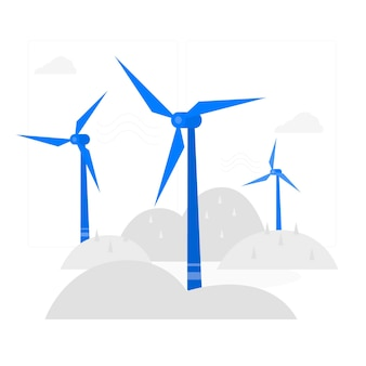 Ilustración del concepto de turbina de viento