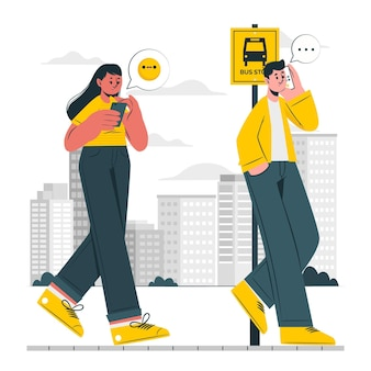 Ilustración del concepto de usuario móvil