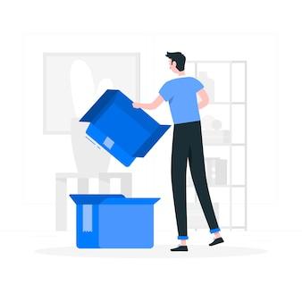Ilustración del concepto de vacío