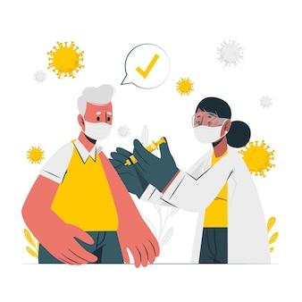 Ilustración del concepto de vacuna