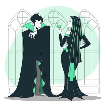 Ilustración del concepto de vampiros