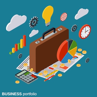 Ilustración de concepto de vector de cartera de negocios