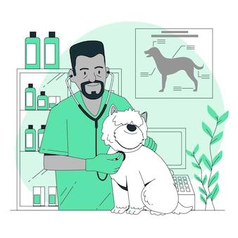 Ilustración del concepto veterinario