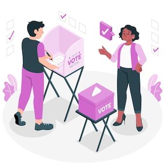 Ilustración del concepto de votación