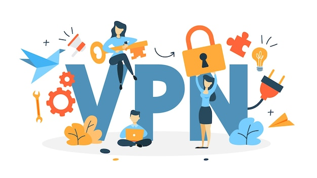 Ilustración del concepto de vpn
