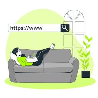 Ilustración del concepto de www