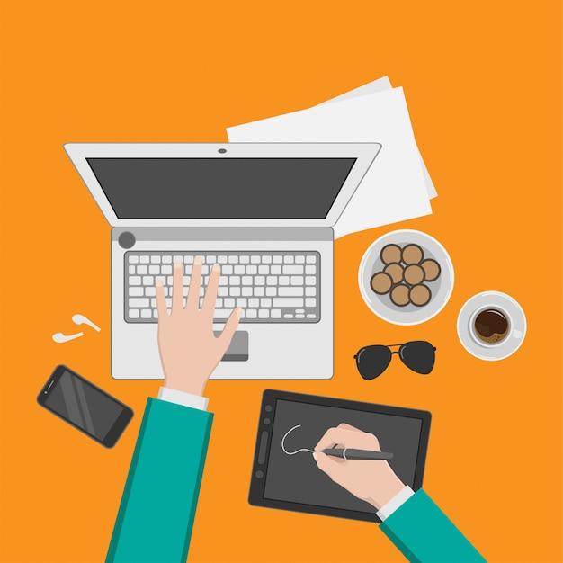 Ilustración de conceptos del espacio de trabajo