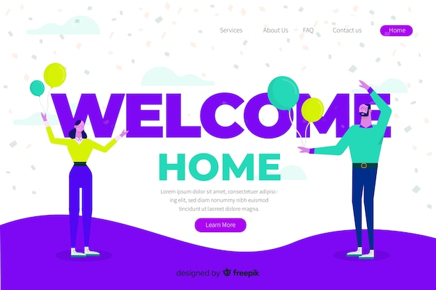 Ilustración conceptual bienvenida