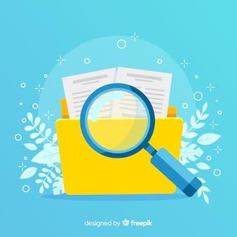 Ilustración conceptual búsqueda de archivos