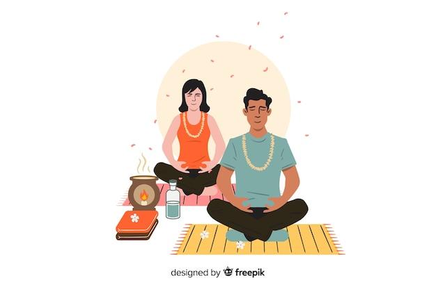 Ilustración conceptual meditación