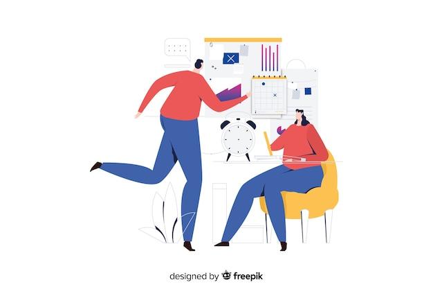Ilustración conceptual organización del tiempo