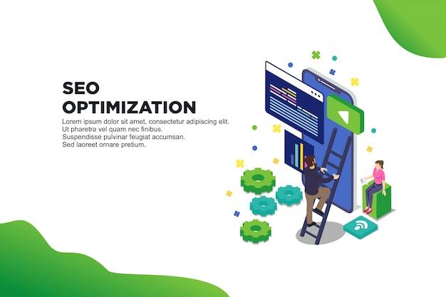 Ilustración conceptual web seo