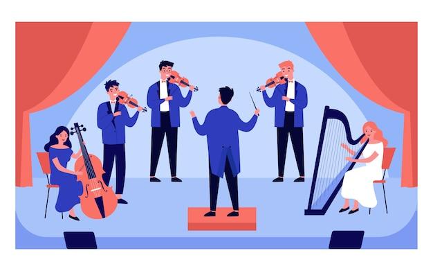 Ilustración de concierto de música clásica