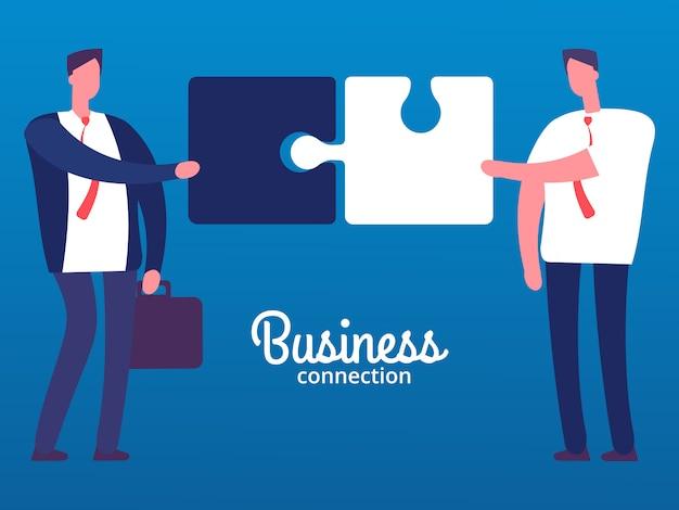 Ilustración de conexión de empresarios