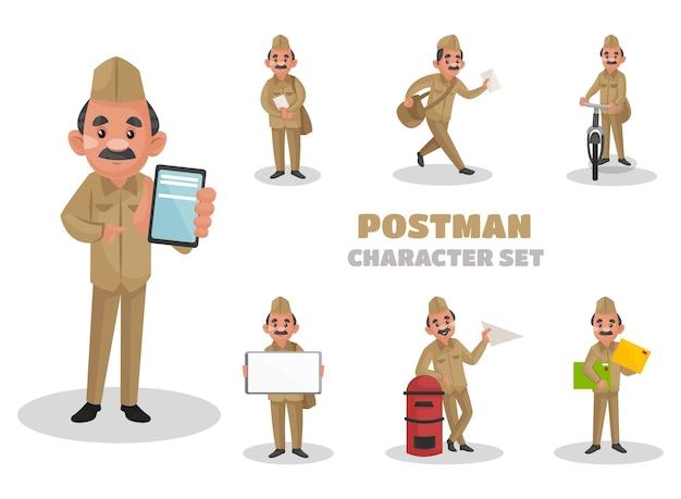 Ilustración del conjunto de caracteres del cartero