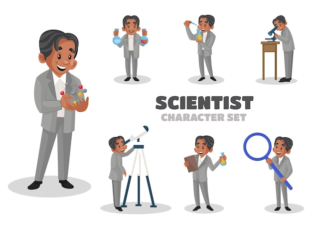 Ilustración del conjunto de caracteres científico