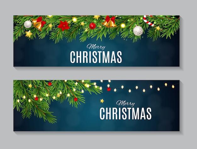 Ilustración de conjunto de colección de tarjetas de navidad y año nuevo de belleza abstracta. eps10