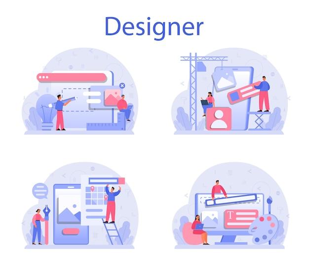 Ilustración de conjunto de concepto de diseño
