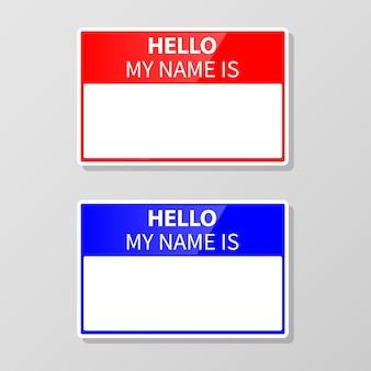 Ilustración de conjunto de etiqueta de nombre