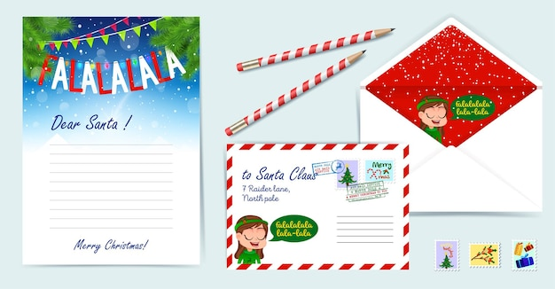 Ilustración de conjunto de plantillas de navidad