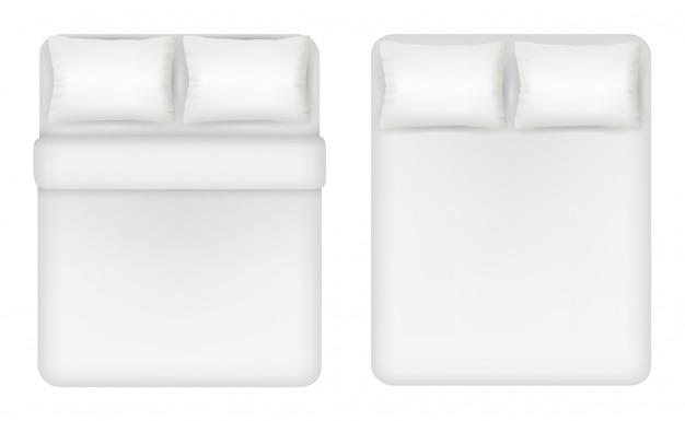 Ilustración de conjunto de ropa de cama blanca