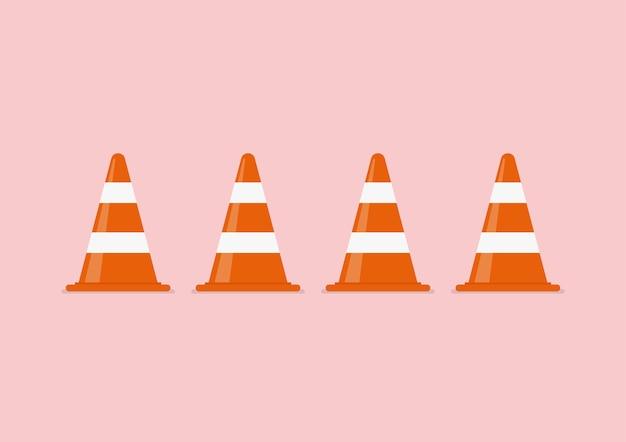 Ilustración de conos de tráfico