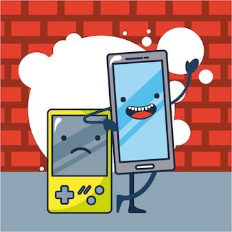 Ilustración de consola de juegos y bombilla