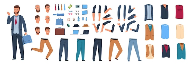 Ilustración de constructor de personaje masculino