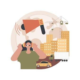 Ilustración de contaminación acústica