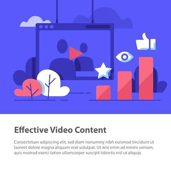 Ilustración de contenido de video