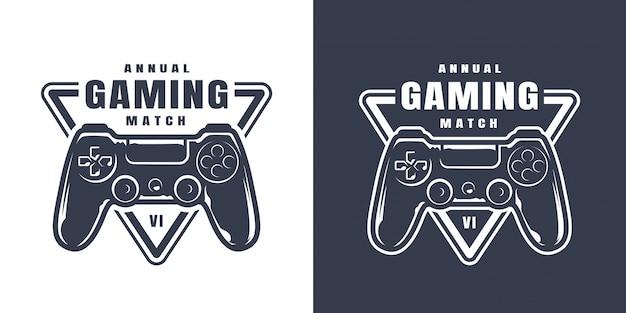 Ilustración de controlador de juego vintage