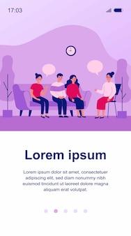 Ilustración de conversación de terapia de grupo