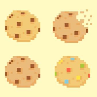 Ilustración de cookies pixeladas