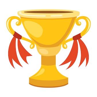 Ilustración de una copa de oro aislada