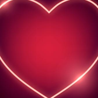 Ilustración del corazón de neón