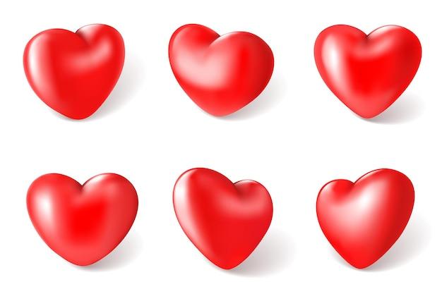 Ilustración de corazón rojo 3d