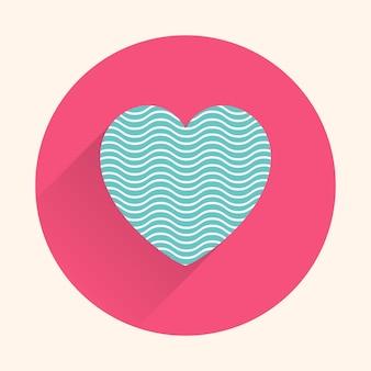 Ilustración de corazones de icono. tarjeta del día de san valentín para la plantilla de vacaciones. estilo creativo y de lujo