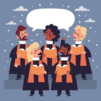 Ilustración del coro del evangelio
