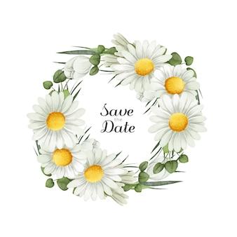 Ilustración de corona floral exuberante en estilo acuarela vector gratuito
