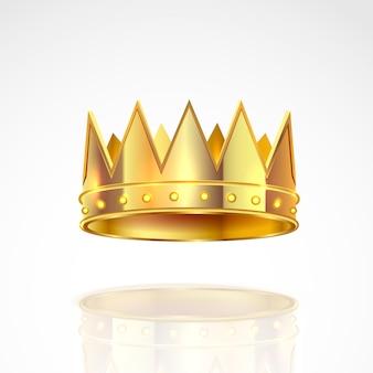 Ilustración de la corona de oro.