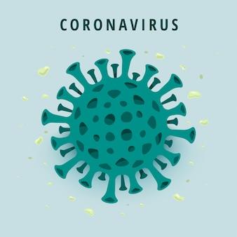 Ilustración de corona de virus