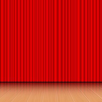 Ilustración de cortina de teatro
