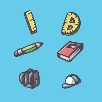 Ilustración de cosas de la escuela