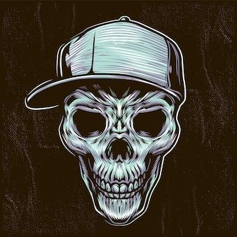 Ilustración de cráneo adolescente