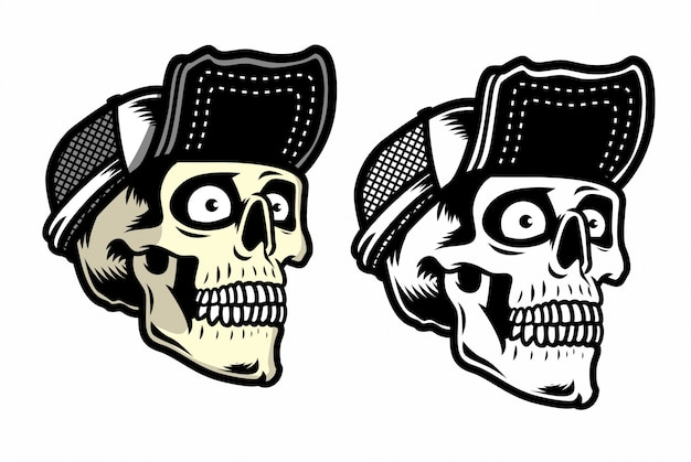Ilustración de cráneo de basura