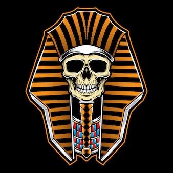 Ilustración de cráneo de faraón