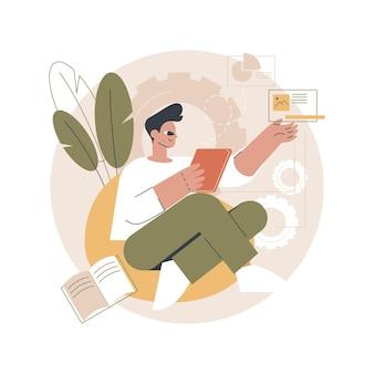 Ilustración de creación de contenido
